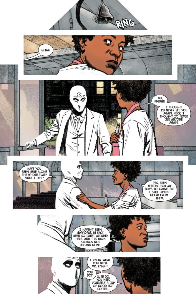 Gina cooks flapjacks for Moon Knight