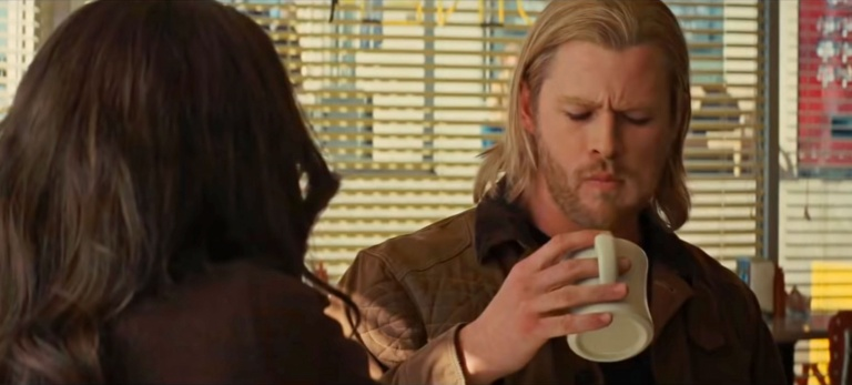 Thor discovers coffee