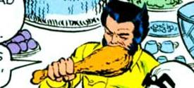 Just Wolverine eating a turkey leg
